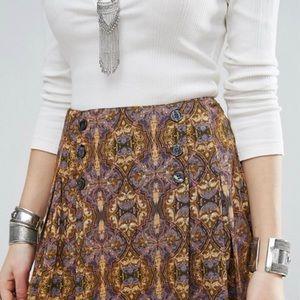 Free People Night Combo Lovers Lane Mini Skirt